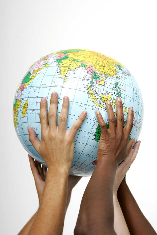 Sustainability Human Hands Holding Earth Working Together